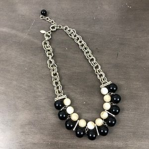 Ann Taylor Bead and Chain Statement Necklace